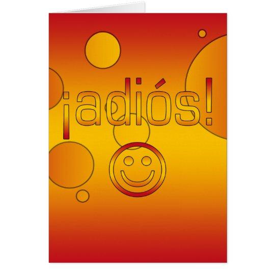 ¡Adiós! Spain Flag Colours Pop Art Card