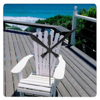 Adironak Chair On Porch Clocks