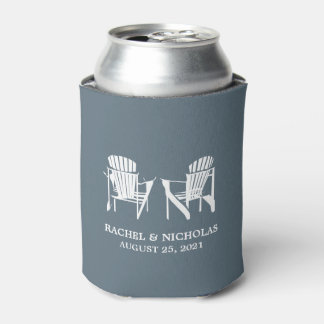 Adirondack Beach Chairs Gray | Wedding Can Cooler