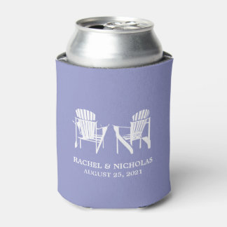 Adirondack Beach Chairs Lilac | Wedding Can Cooler