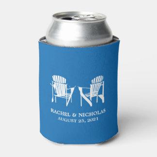 Adirondack Beach Chairs Royal Blue | Wedding Can Cooler