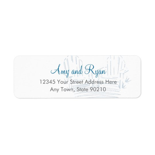 Adirondack Chair Return Address Label