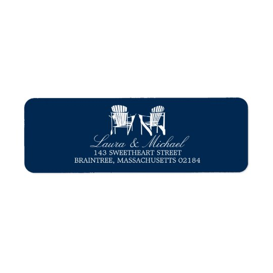 Adirondack Chairs | Return Address Return Address Label