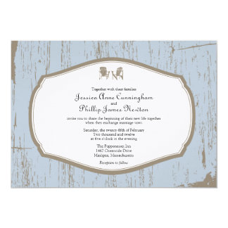 Adirondack Chairs Rustic Wedding Card