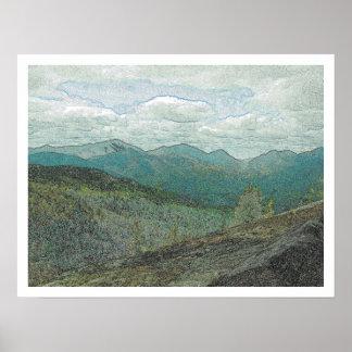 Adirondack Mountain Peaks Panorama Poster