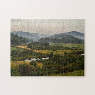 Adirondack Mountains  - Foggy - Swamp Land Jigsaw Puzzle