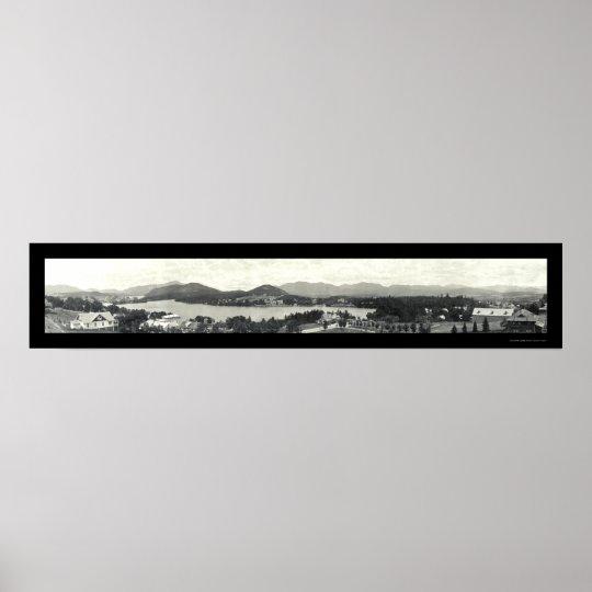 Adirondack Mountains & Lake Placid 1912 Poster