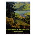Adirondack Mountains Lake Placid Vintage Poster Re Postcard