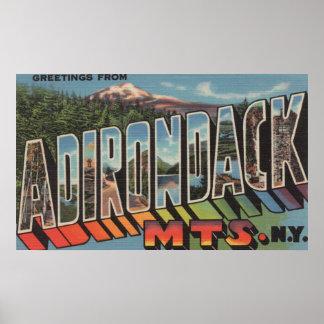 Adirondack Mountains New York Print