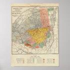 Adirondack Survey Sketch - Verplanck Colvin Map Poster