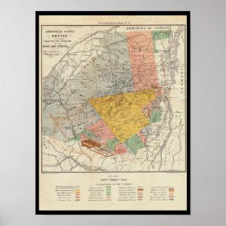 Adirondack Survey Sketch - Verplanck Colvin Map Posters