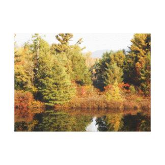 Adirondacks Upper Chub River Autumn Scene Canvas Print