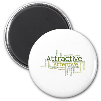 Adjectives to describe yourself starts with A 6 Cm Round Magnet
