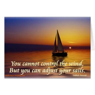 Adjust Sails-Greating Card
