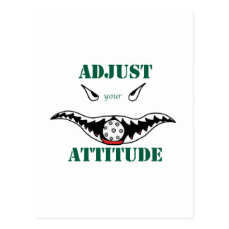 Adjust your attitude postcard