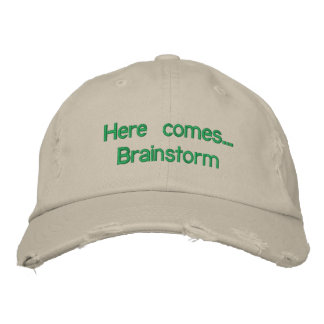 "Adjustable cap ""Here you eat… Brainstorm "" Embroidered Hats"