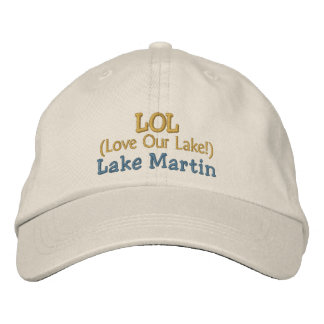 "Adjustable Cap ""LOL Love Our Lake!"" Lake Martin Baseball Cap"