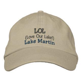 "Adjustable Cap ""LOL Love Our Lake"" Lake Martin Embroidered Baseball Caps"