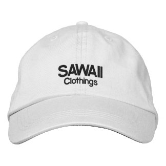 Adjustable cap SAWAII - White Embroidered Hat
