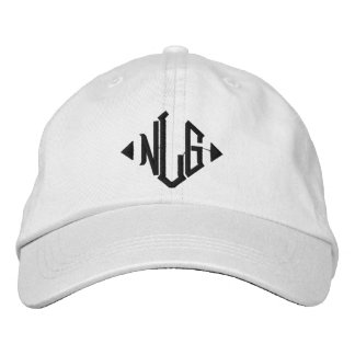 Adjustable cap white NLG Embroidered Baseball Caps