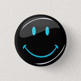 Adjustable Color Neon Black Smiley 3 Cm Round Badge