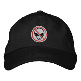 Adjustable Hat- No aliens Embroidered Hat