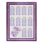 Adjustable Size Lavender and Purple Seating Chart