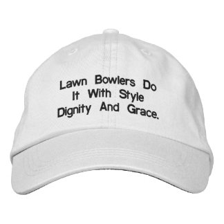 Adjustable_White_Stylish_Lawn_Bowls_Cap. Embroidered Hat