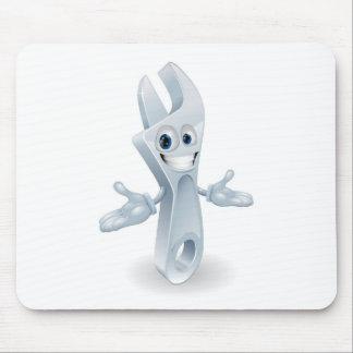 Adjustable wrench character mascot mousepad