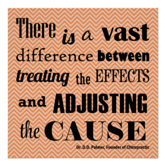 Adjusting the Cause Chiropractic Quote Poster