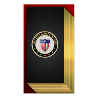 Adjutant General's Corps Branch Insignia [3D] Pack Of Standard Business Cards