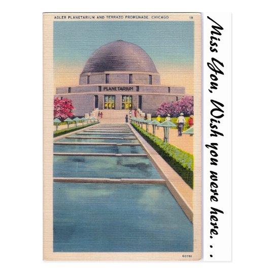Adler Planetarium, Chicago, Illonois Postcard