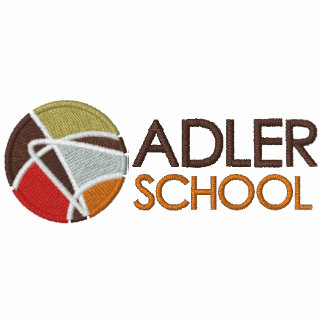 Adler School Embroidered Pullover 3 Embroidered Hooded Sweatshirt