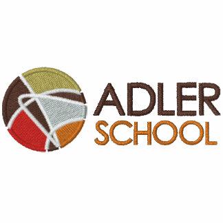 Adler School Zippered Hoodie w/ Embroidered Logo