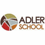 Adler School Zippered Hoodie w/ Embroidered Logo