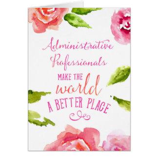 Admin Professionals Day Card Typographic Aphorism
