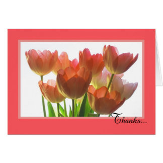 Administrative Assistant Day Card -- Orange Tulips