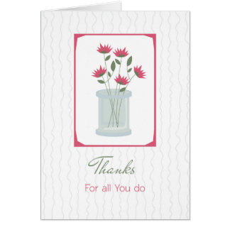 Administrative Assistant, Thank You Greeting Card