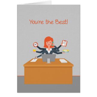 Administrative Professional Thank You, Multitask Greeting Card