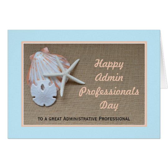 Administrative Professionals Day Card -- Beach