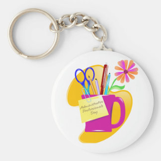 Administrative Professionals Day Design Basic Round Button Key Ring