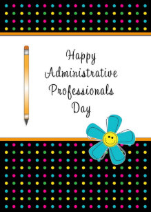 Administrative professionals day cards invitations zazzle administrative professionals day greeting card m4hsunfo Image collections