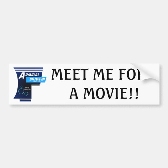 Admiral Drive-In Theatre Logo Bumper Sticker
