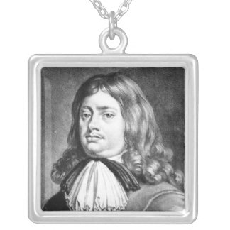 Admiral Earl Penn  illustration Silver Plated Necklace