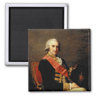 Admiral George Brydges Rodney  1791 Square Magnet