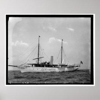 Admiral Steam Yacht, 1892-1900 Poster