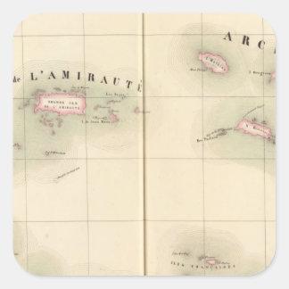 Admiralty Islands Oceania no 24 Square Sticker