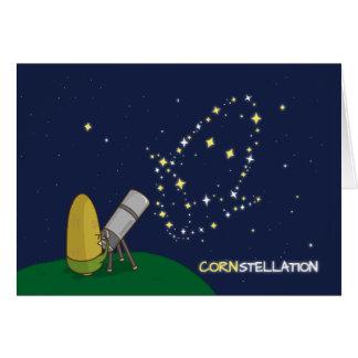 Admire the Stars Constellation Cute Puny Corn Card
