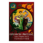 Admission Day Advertisment, State Festival Print