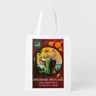 Admission Day Advertisment, State Festival Reusable Grocery Bag